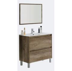 DAKOTA Mueble 80 2c + espejo + LAVABO 305950 O