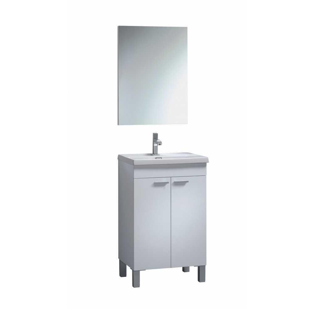 Mueble con 2 puertas, espejo y lavabo de KONCEPT