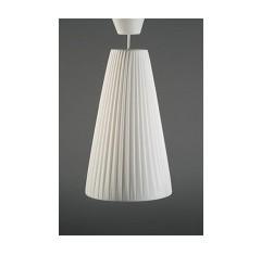Lámpara techo blanca forma cono