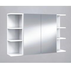 Módulo camerino para baño con espejo color blanco brillo