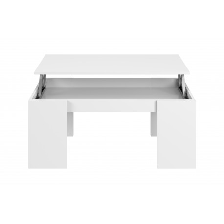 Mesa centro elevable color blanco brillo de FLOW