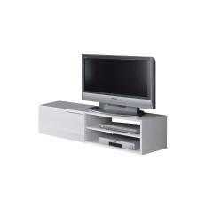 Mueble de TV Módulo bajo con 1 puerta y 1 estante blanco brillo de ALTHEA