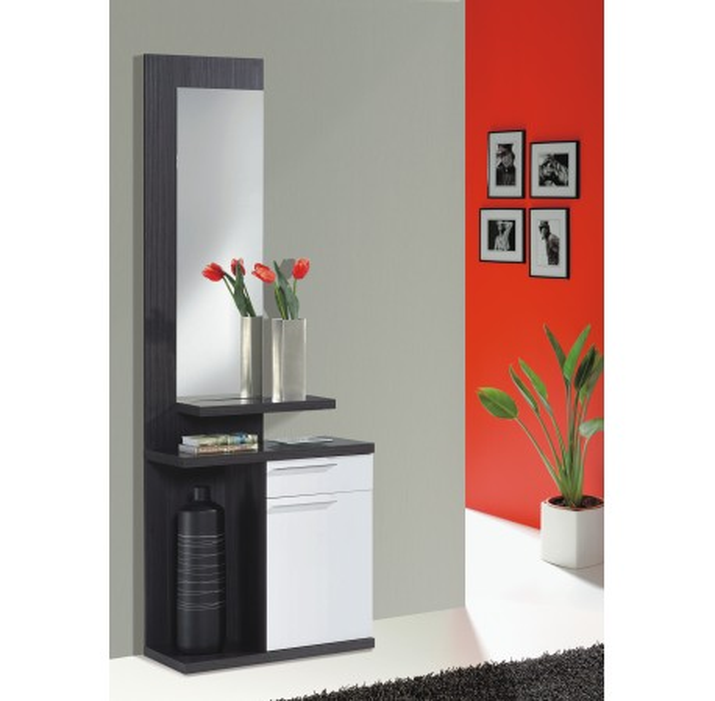 Recibidor con espejo, módulo y cajón de KENDRA