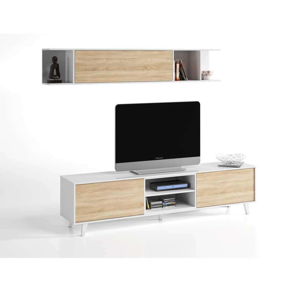 Módulo TV con estante para colgar de ZAIKEN PLUS