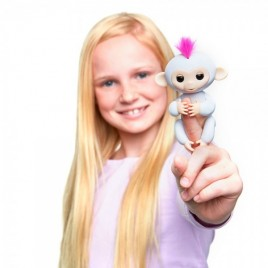 WowWee Fingerlings Sophie - Monito interactivo color blanco