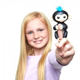 WowWee Fingerlings Finn - Monito interactivo color negro