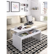 Mesa de Centro Elevable Mueble Modelo Side Blanco Brillo