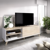 Mueble Bajo para TV Modelo Ness Blanco y Natural