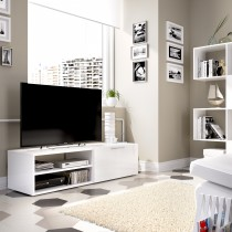 Mueble Bajo para TV Modelo Soho Blanco Brillo