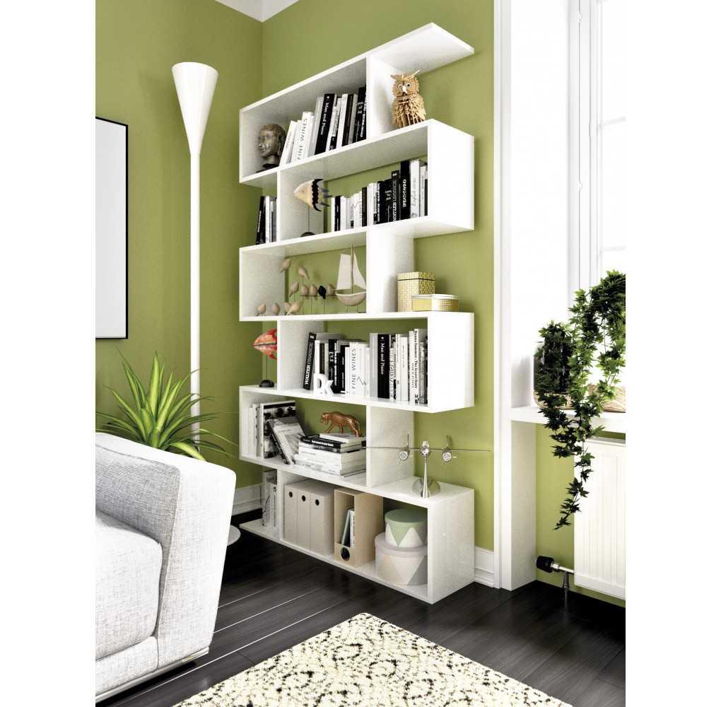 Mueble de Estantería Modelo Lis Alta Blanco Brillo
