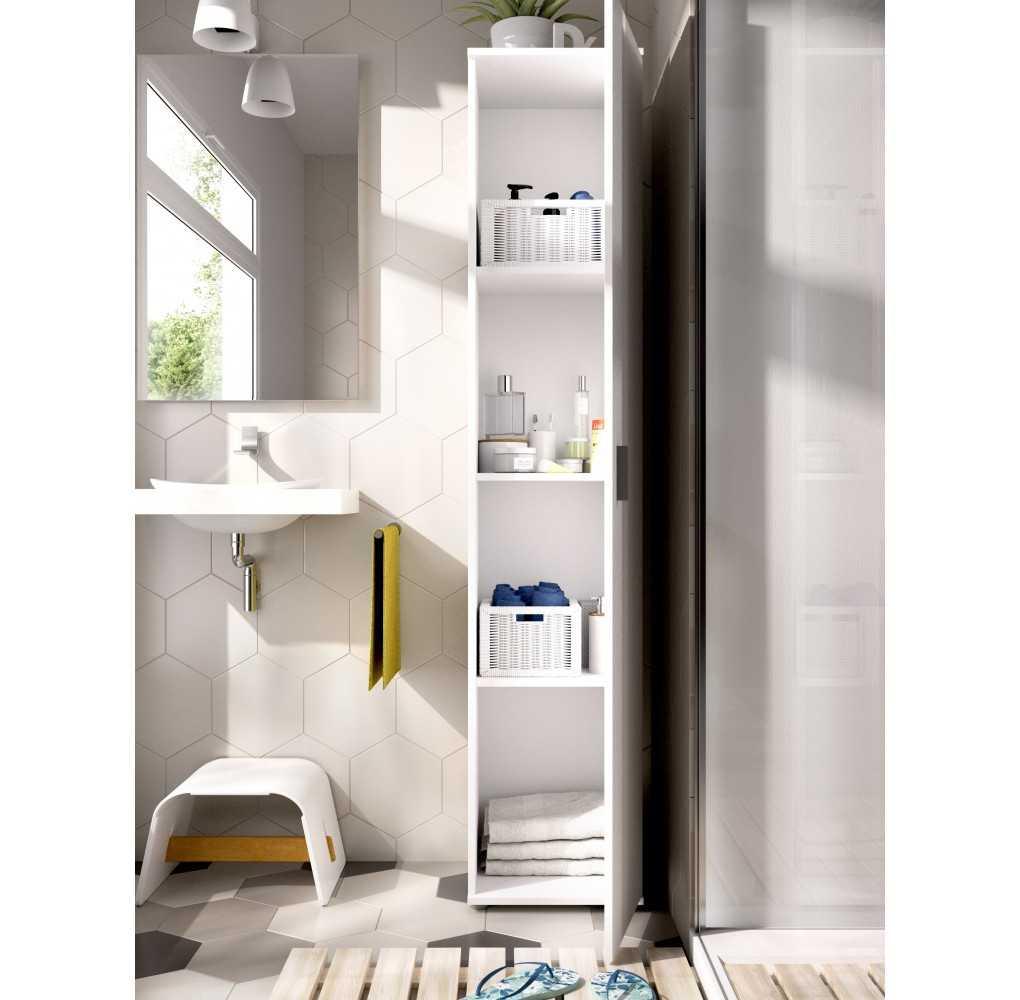 Mueble Armario Multiusos con 1 Puerta Modelo FIT Blanco