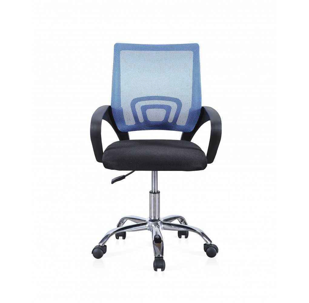 Silla de oficina giratoria ADEC Modelo Vita Negro/Azul