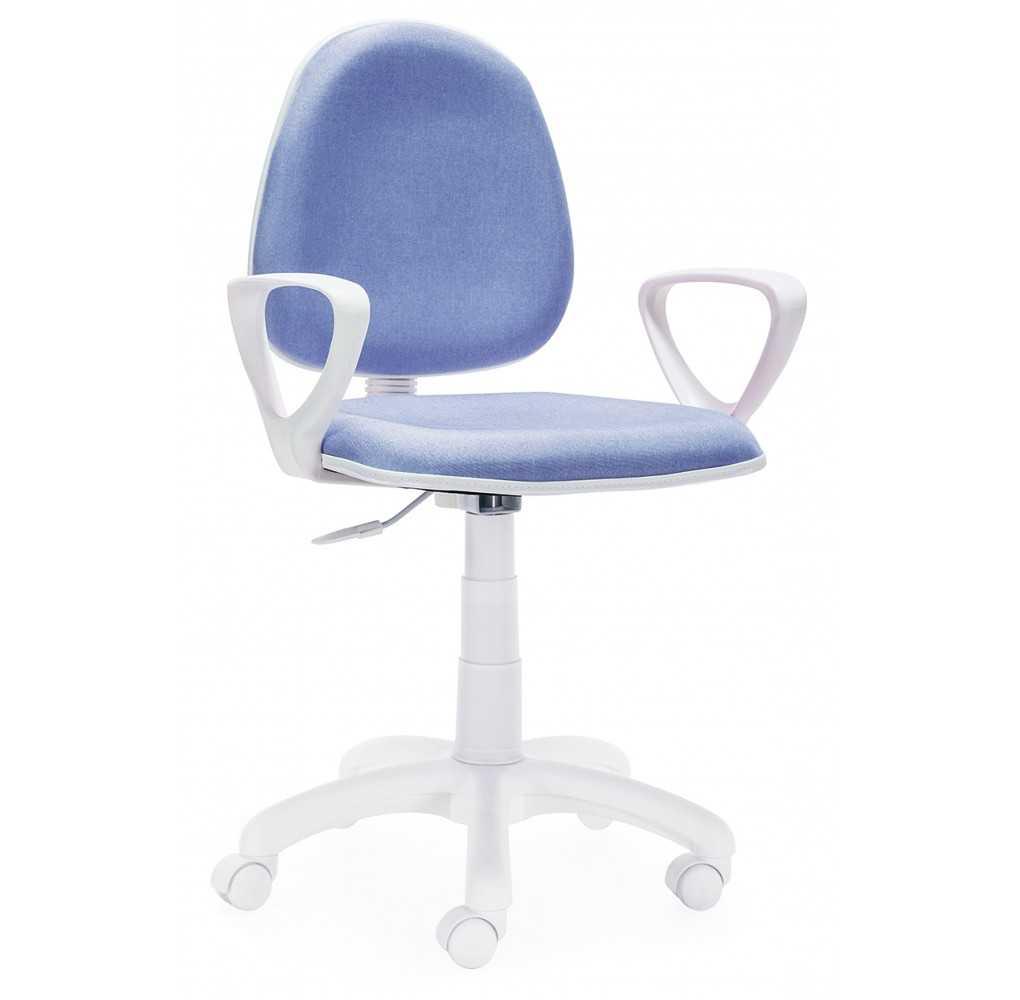 Silla de escritorio giratoria Modelo Dolphin Azul y Blanco