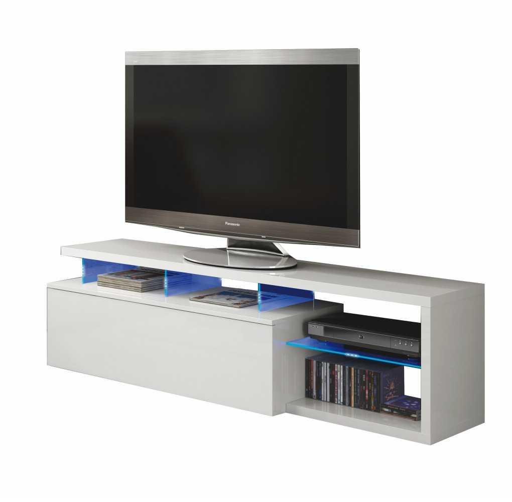 Mueble de Salón TV Modelo BLUE-TECH Blanco Brillo