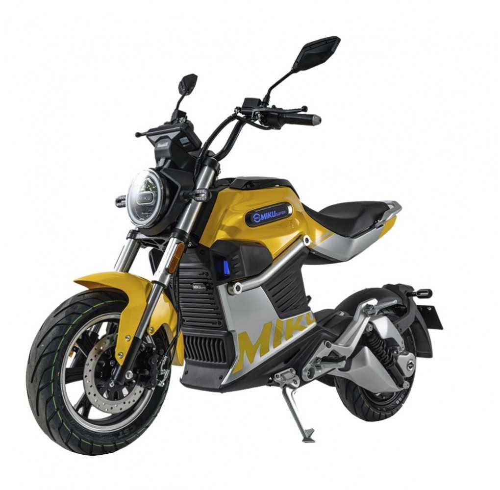 Moto Eléctrica Sunra Miku Super 125E 3000W/40AH Amarillo (Doble Batería)