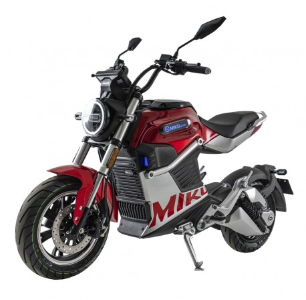 Moto Eléctrica Sunra Miku Super 125E 3000W/40AH Rojo (Doble Batería)