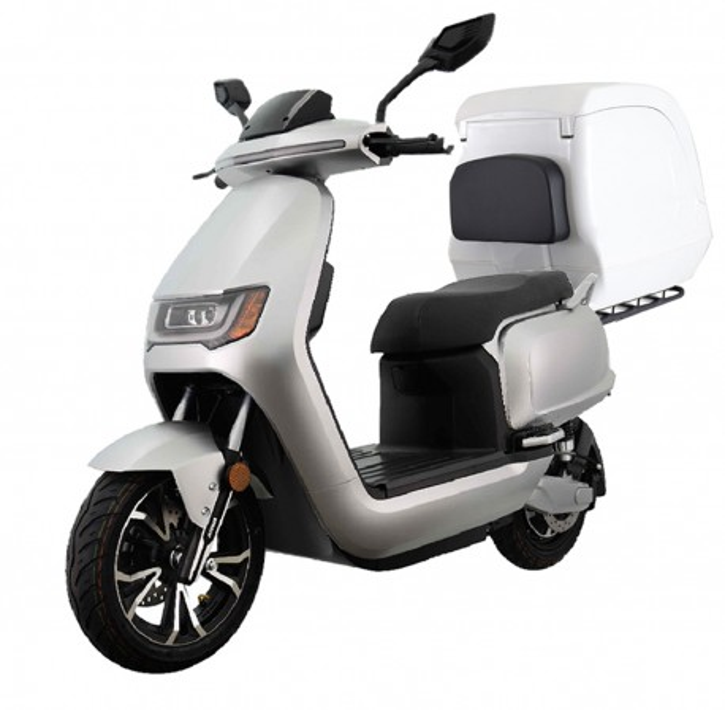 Moto Eléctrica Sunra RS Delivery 125E 3000W/40AH Blanca (Doble Batería)