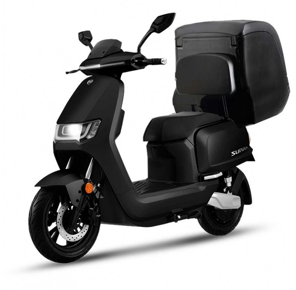 Moto Eléctrica Sunra RS Delivery 125E 3000W/40AH Negra (Doble Batería)