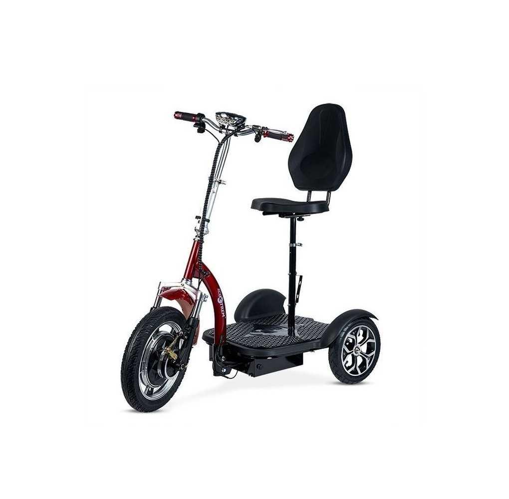 Triciclo Eléctrico Movilidad Reducida 500W Rojo