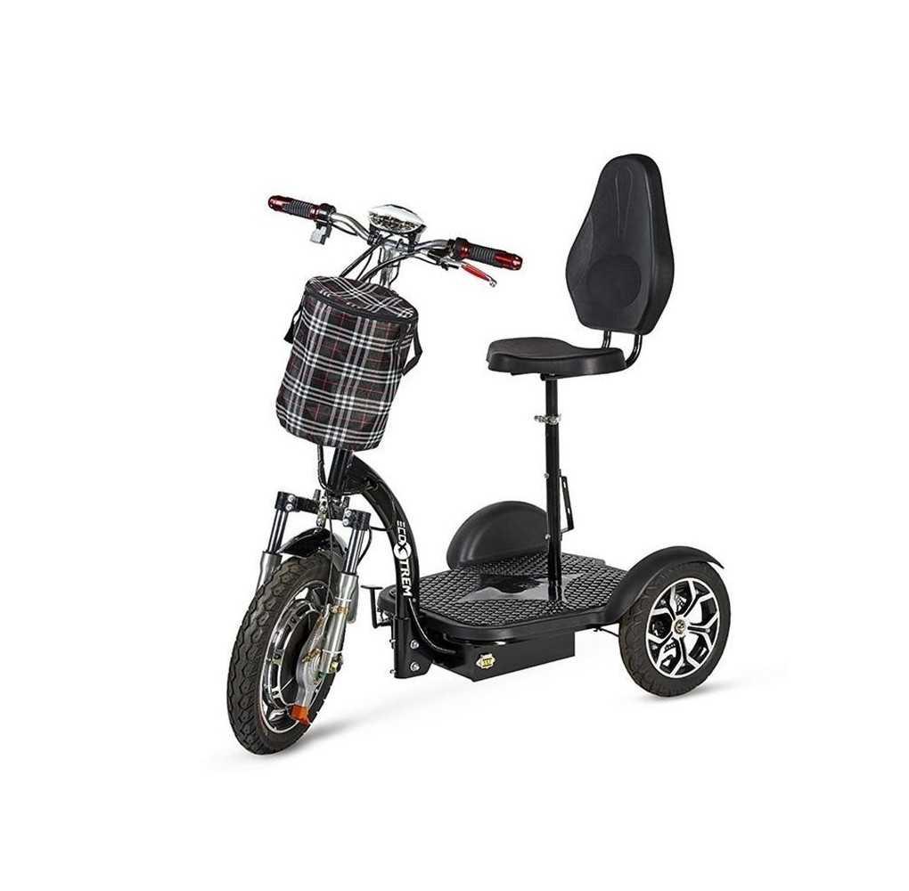 Triciclo Eléctrico Movilidad Reducida 500W Negro
