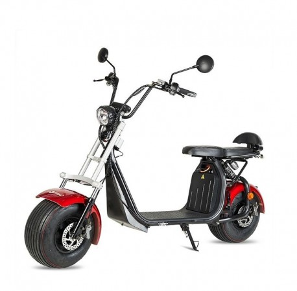 Moto Eléctrica Maverick II Citycoco 1500W/20AH Rojo