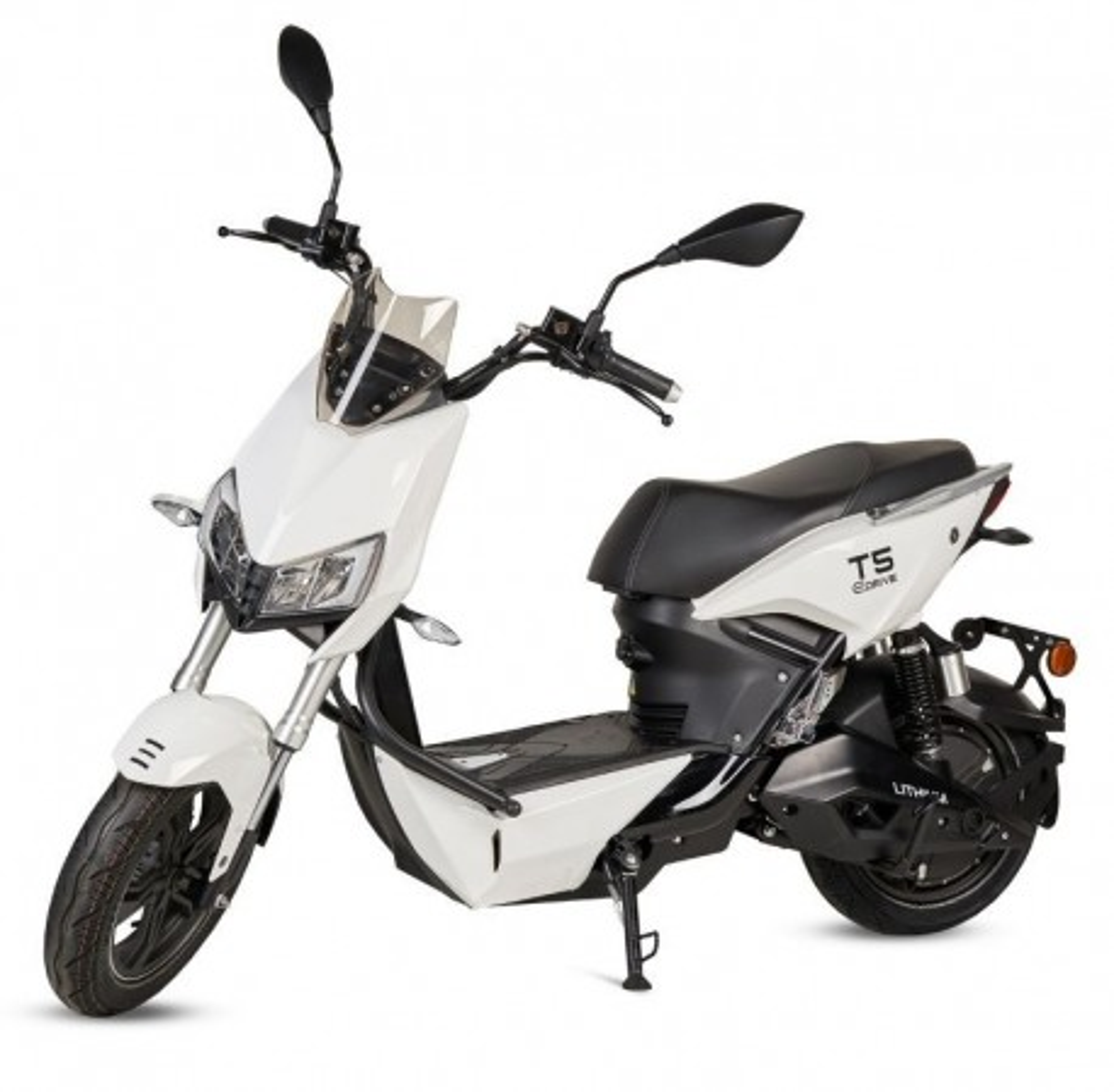 Moto Eléctrica T5 1500W/18AH Blanco