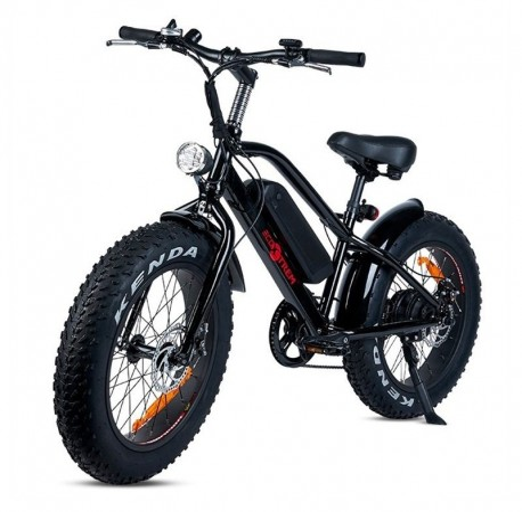 Bicicleta Eléctrica con Ruedas Gruesas Kenda 250W/9AH Negro