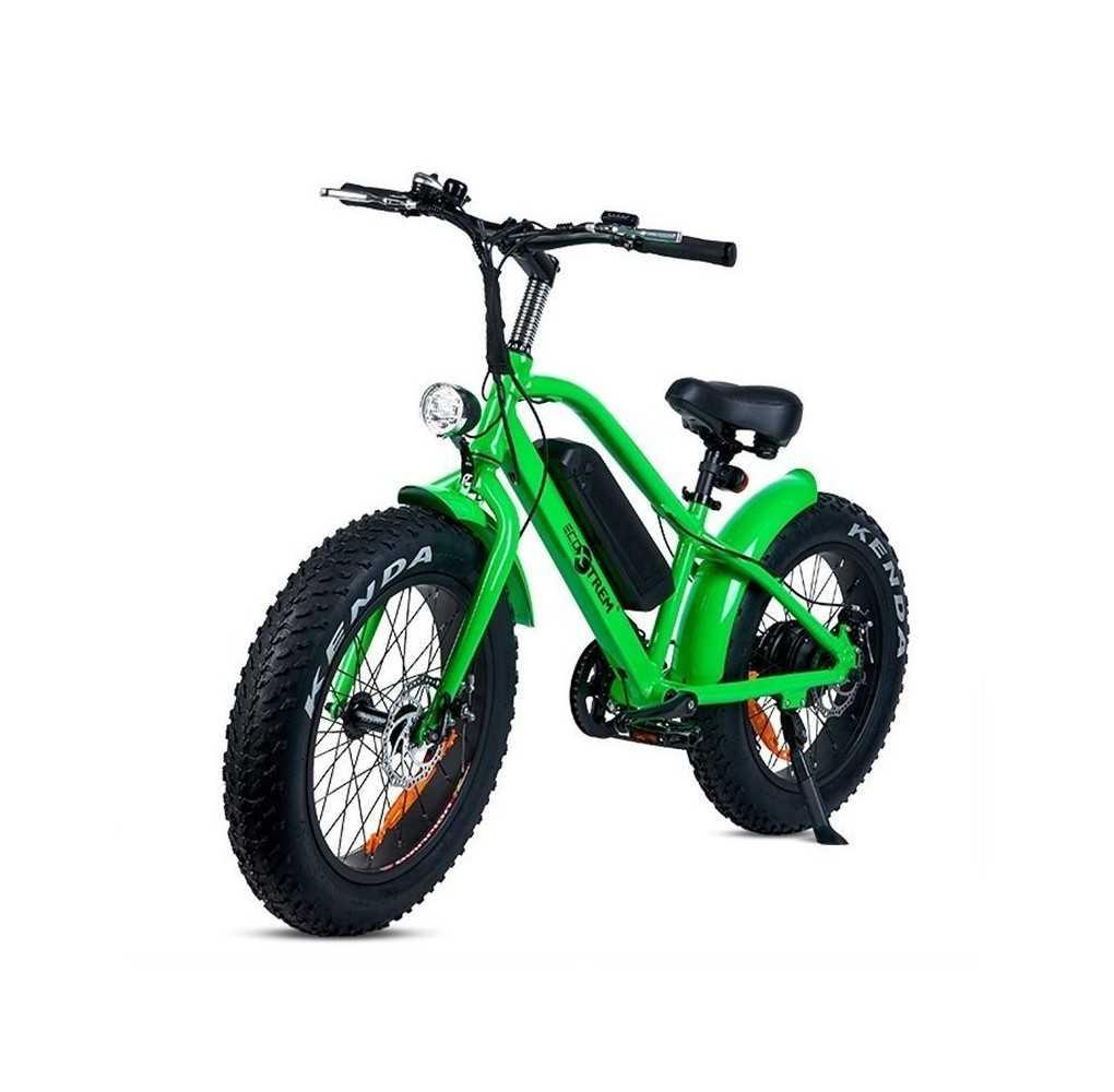 Bicicleta Eléctrica con Ruedas Gruesas Kenda 250W/9AH Verde