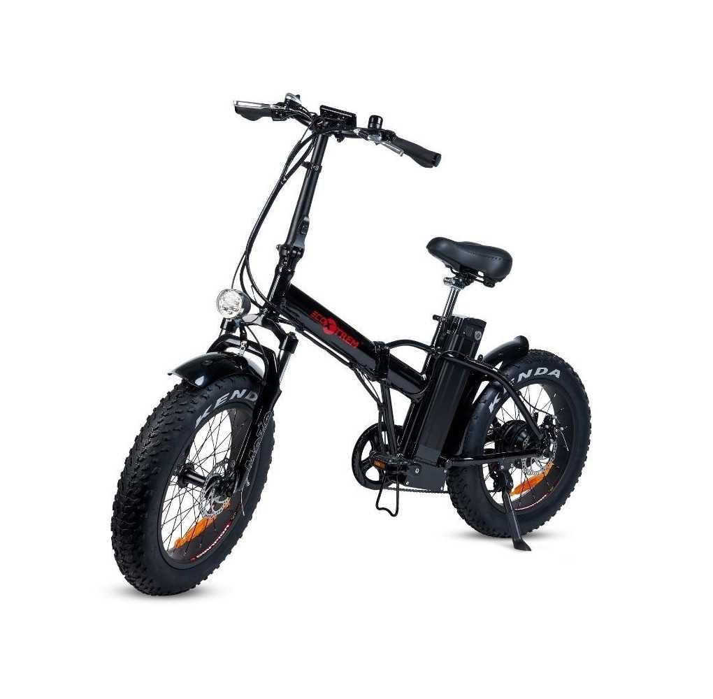 Bicicleta Eléctrica con Ruedas Gruesas Plegable 250W/10AH Negro